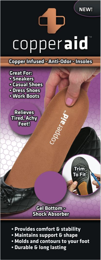 Copper Aid Insoles for Women Wellness & Fitness - DailySale