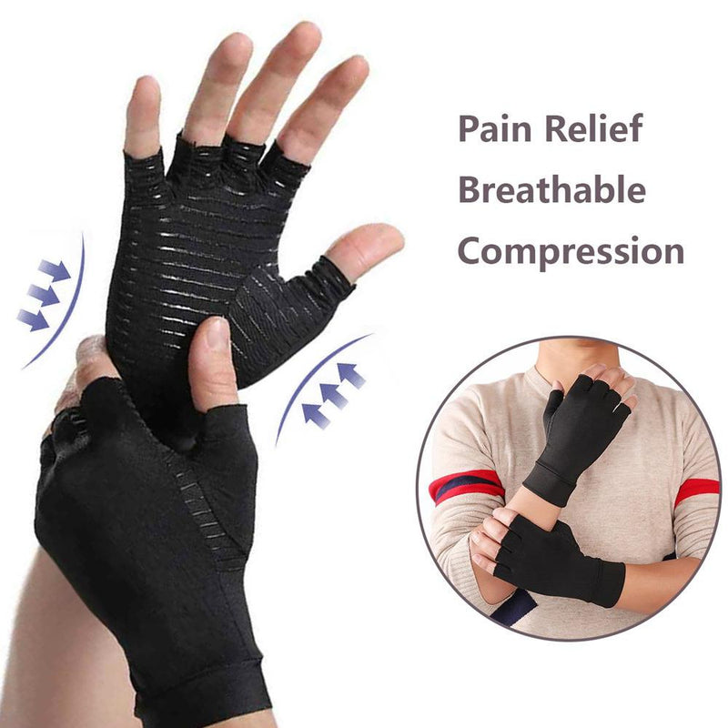 Copper Infused Therapeutic Compression Gloves For Men And Women Wellness & Fitness - DailySale