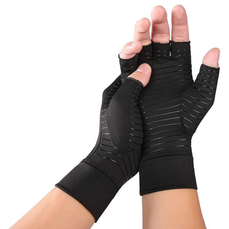 Copper Infused Therapeutic Compression Gloves For Men And Women Wellness & Fitness S - DailySale