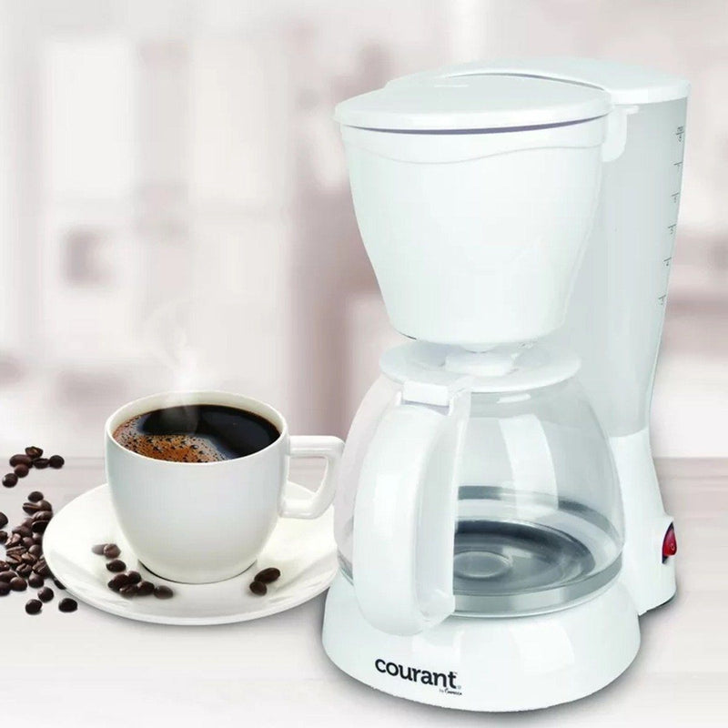 Courant 8 Cup Coffee Maker with Permanent Filter & Spoon Kitchen Essentials - DailySale