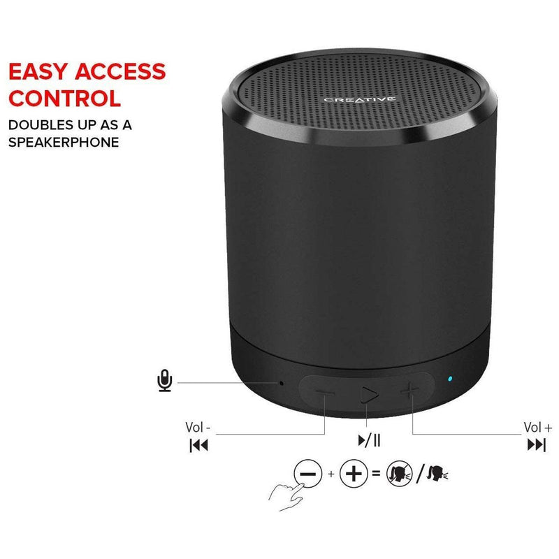 Creative Metallix Portable Mini Speaker - Black Speakers - DailySale