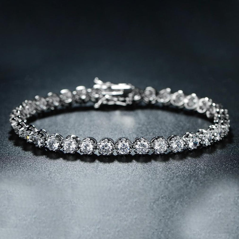 Crown Tennis Bracelet Made with Swarovski Elements Jewelry - DailySale