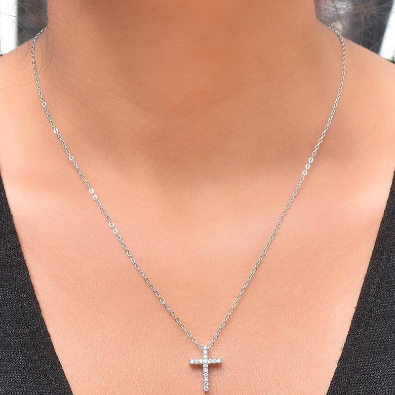 Crystal Cross Pendant Necklace Jewelry - DailySale
