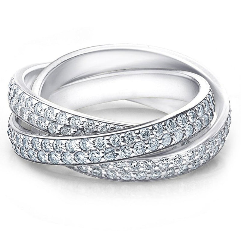 Crystal Rolling Eternity Ring Rings 5 - DailySale