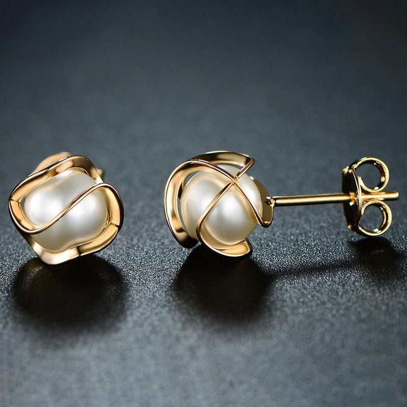 Cultured Freshwater Pearl Cage Earrings by Sevil Jewelry - DailySale