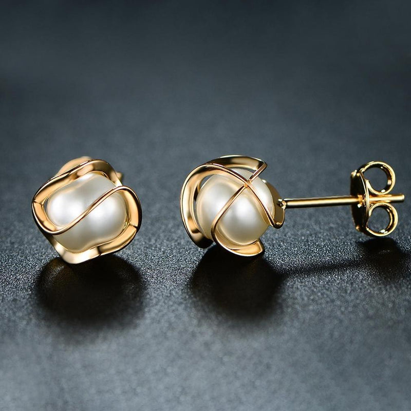 Cultured Freshwater Pearl Cage Earrings Jewelry - DailySale