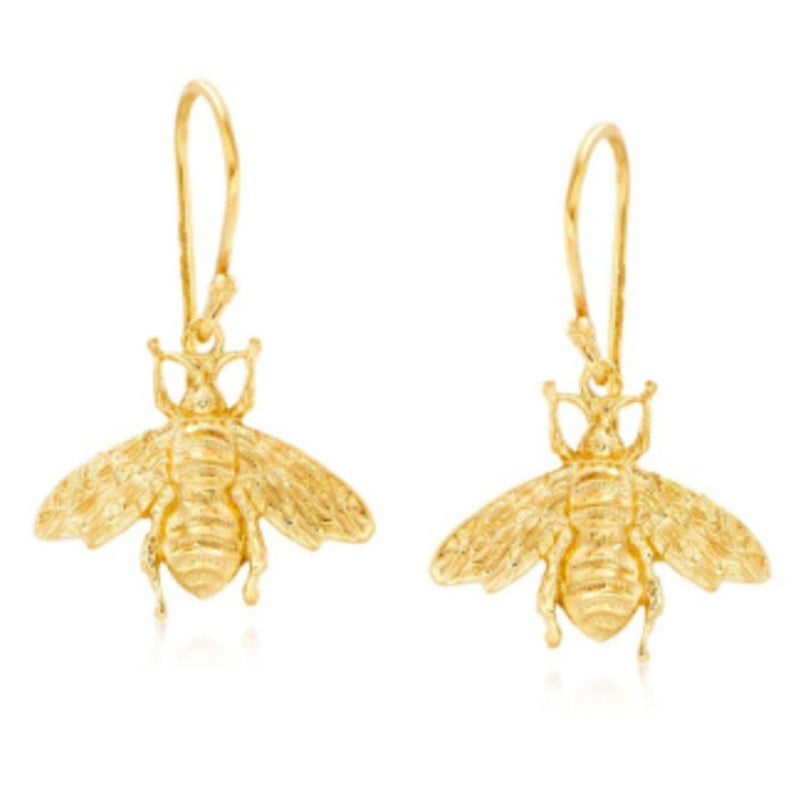 Dangling Bumble Bee Earrings in 14K Gold Jewelry - DailySale