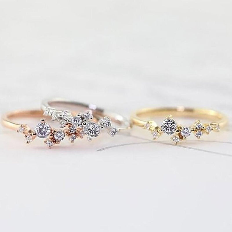 Delicate Cz Stackings Ring In 18Kt Gold Jewelry - DailySale