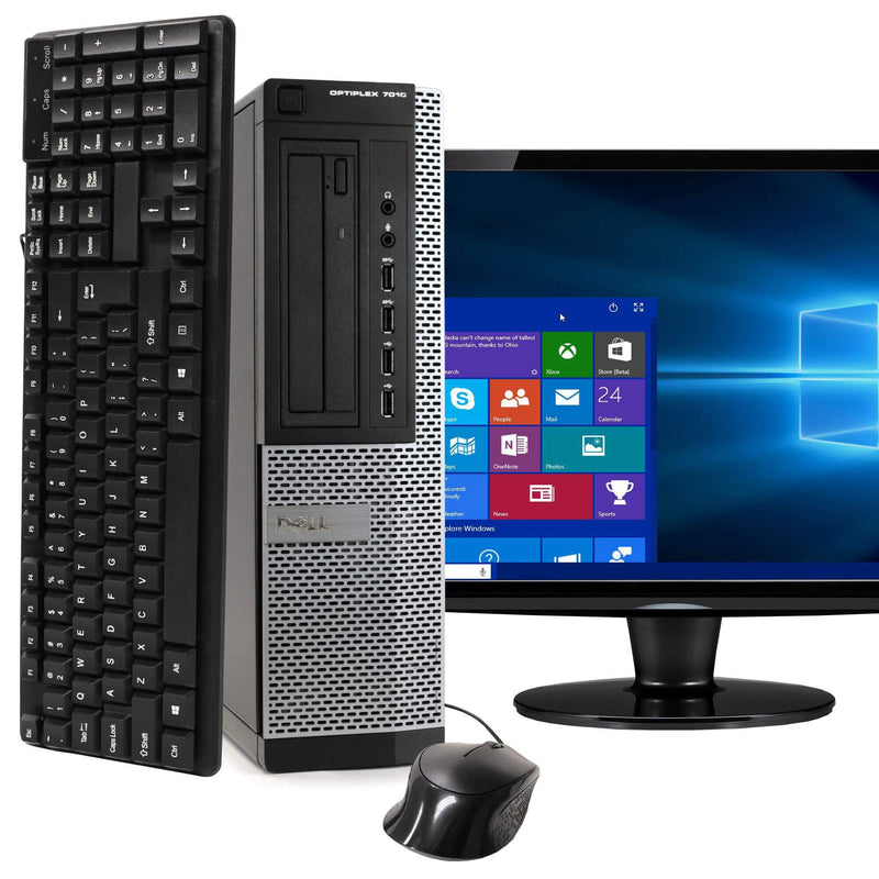 "Dell OptiPlex 7010 Desktop Computer PC with 19"" Monitor and Windows 10 Desktops - DailySale"