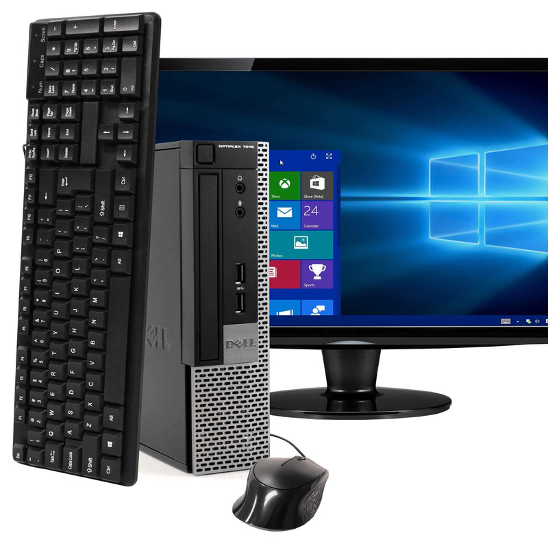 "Dell OptiPlex 7010 Ultra Small Form Factor Computer PC with 22"" Widescreen Screen Computers - DailySale"