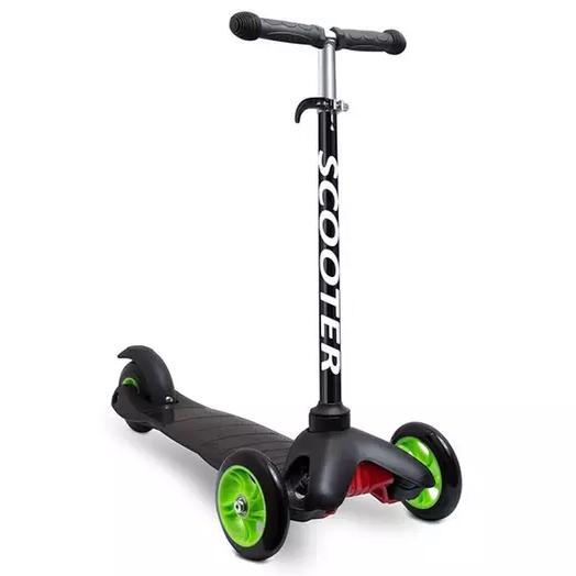 Deluxe Aluminum Kick 'n Go 3-Wheel Scooter Toys & Games Black - DailySale