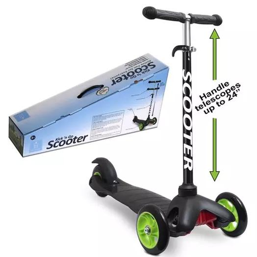 Deluxe Aluminum Kick 'n Go 3-Wheel Scooter Toys & Games - DailySale