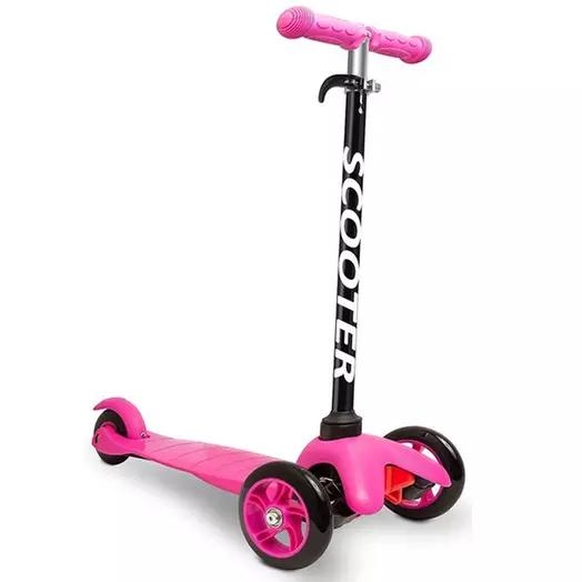 Deluxe Aluminum Kick 'n Go 3-Wheel Scooter Toys & Games Pink - DailySale
