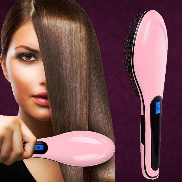 Detangling Hair Straightener Brush - Assorted Colors Beauty & Personal Care - DailySale