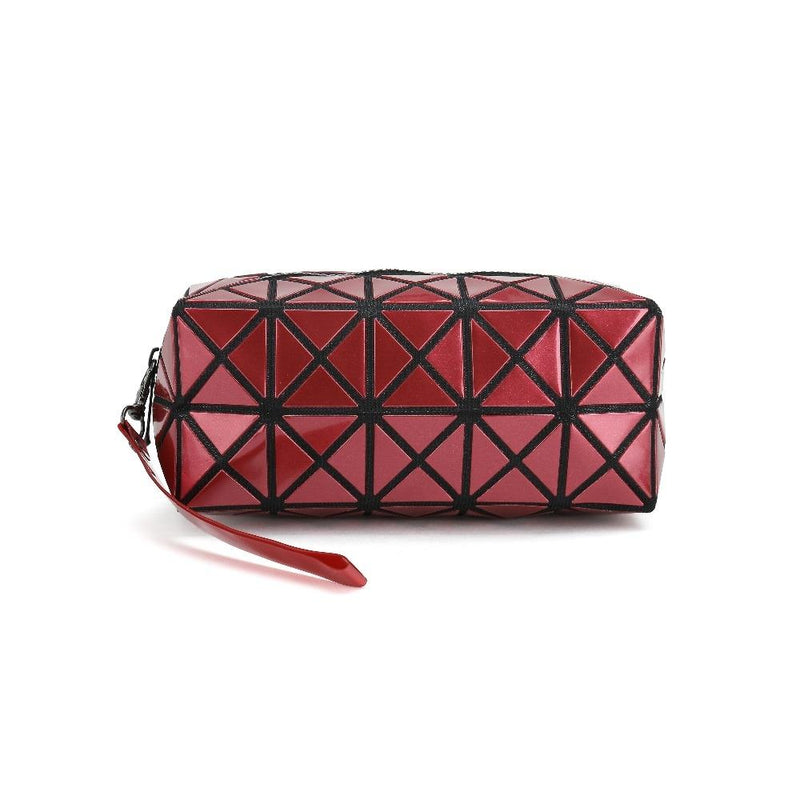 Diamond Design Cosmetic Travel Bag - Assorted Colors Beauty & Personal Care Red - DailySale