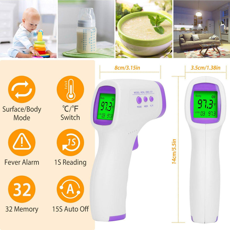 Digital Non-contact Infrared Thermometer Face Masks & PPE - DailySale