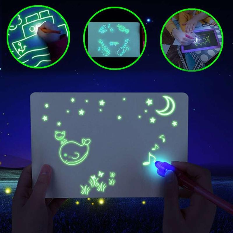 Draw With Light Kids' Learning Tablet Magic Drawing Board Toys & Games - DailySale