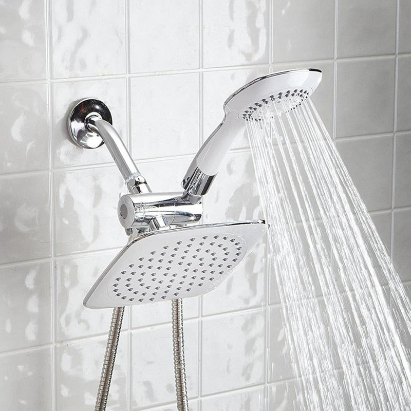 Dual-head Shower Massager with Rainfall Home Essentials - DailySale