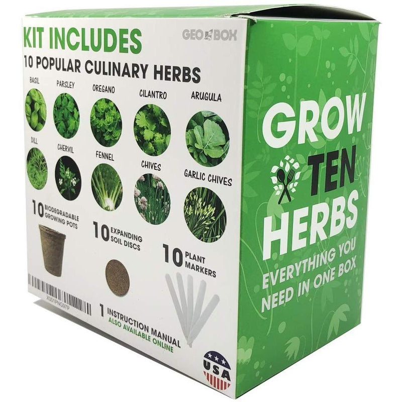 Easily Grow 10 Culinary Herb Garden Kit Kitchen Essentials - DailySale