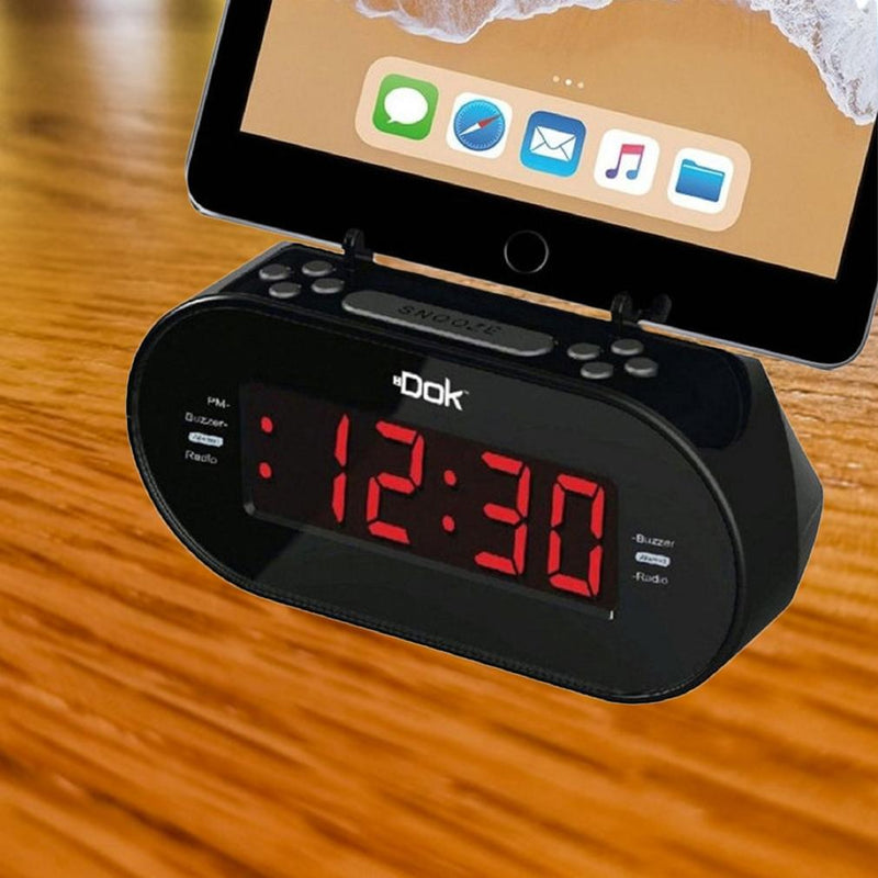 Easy Dok Alarm Clock with Universal Smart Phone Cradle Home Essentials - DailySale