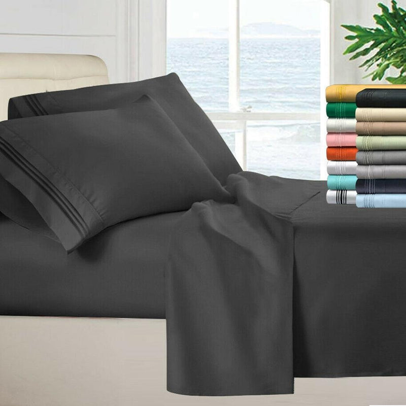 Egyptian Quality 100 GSM Microfiber Sheet Set Linen & Bedding - DailySale