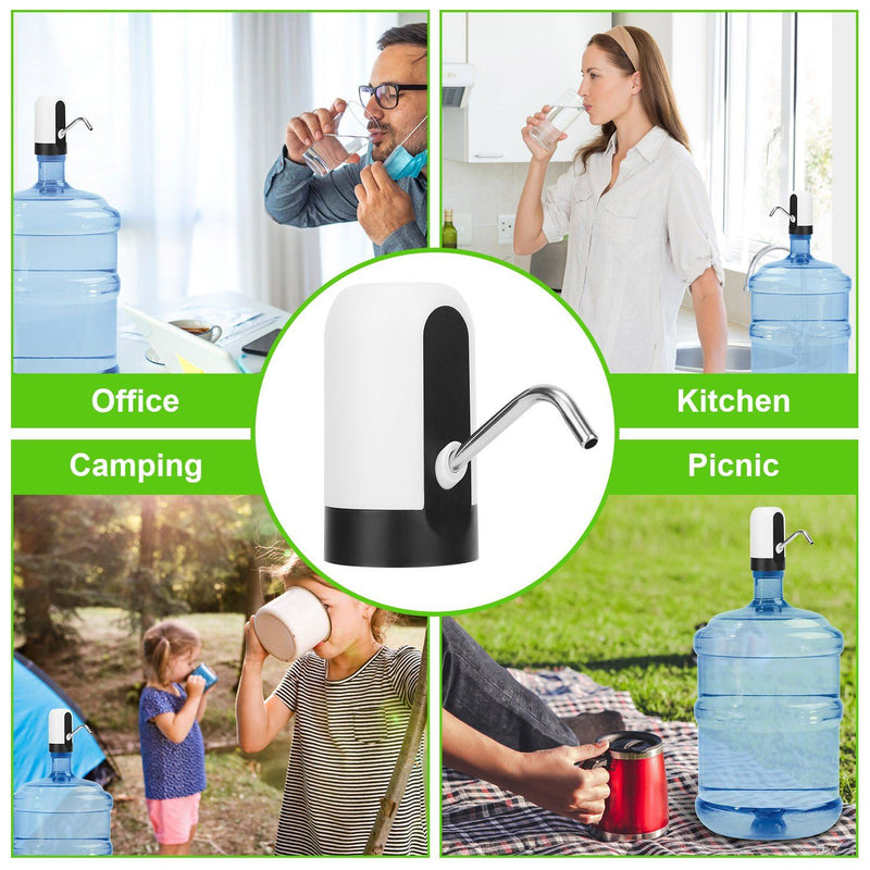 Electric Water Bottle Dispenser Rechargeable Automatic Drinking Water Bottle Pump Kitchen & Dining - DailySale