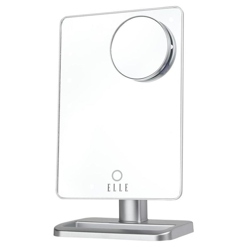 ELLE A Star is Born LED Light-up Bluetooth Speaker Vlogging Mirror Beauty & Personal Care Silver - DailySale