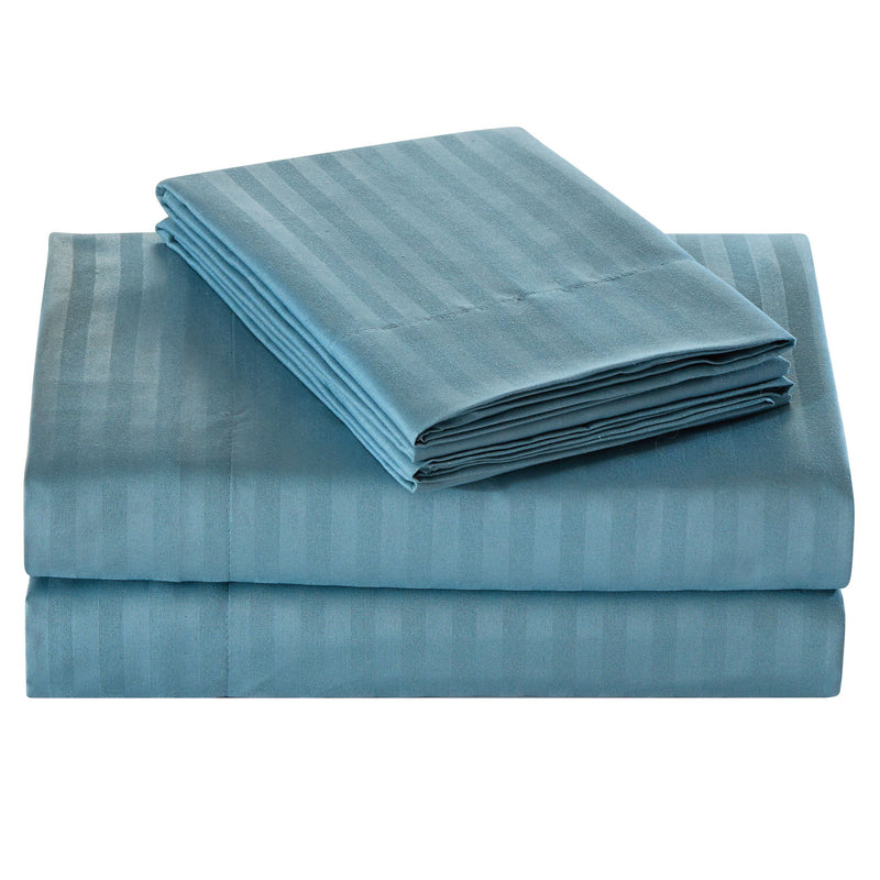 Embossed Microfiber Sheets Bed & Bath Full Teal - DailySale