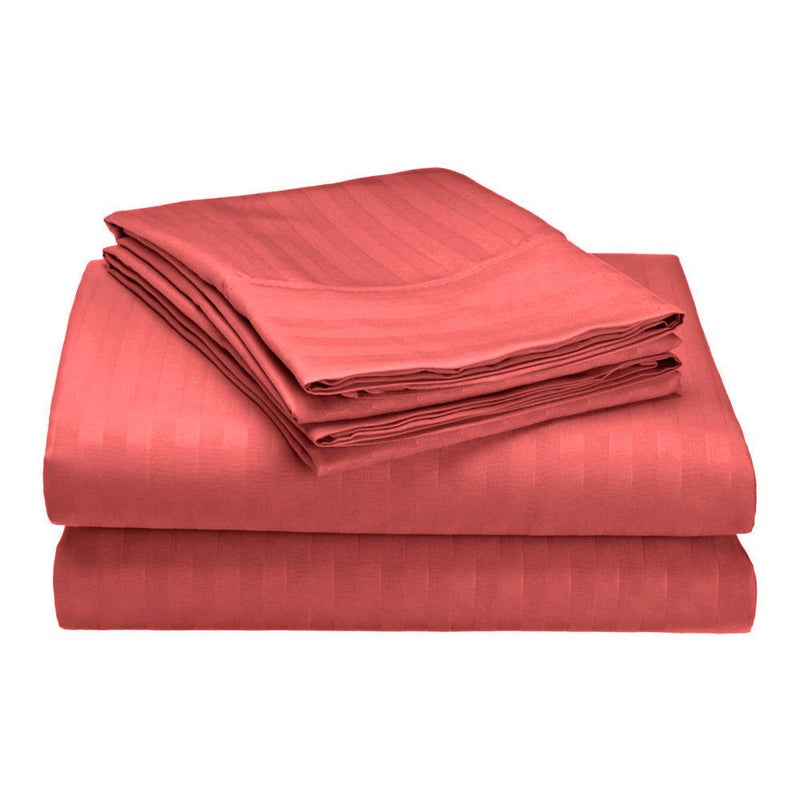 Embossed Microfiber Sheets Bed & Bath Twin Burgundy - DailySale