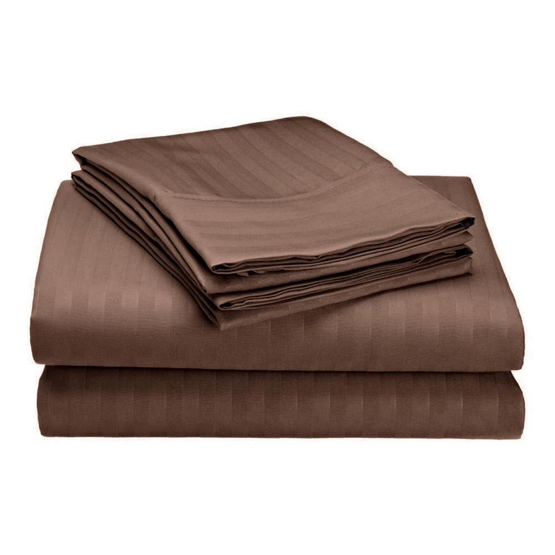 Embossed Microfiber Sheets Bed & Bath Twin Chocolate - DailySale