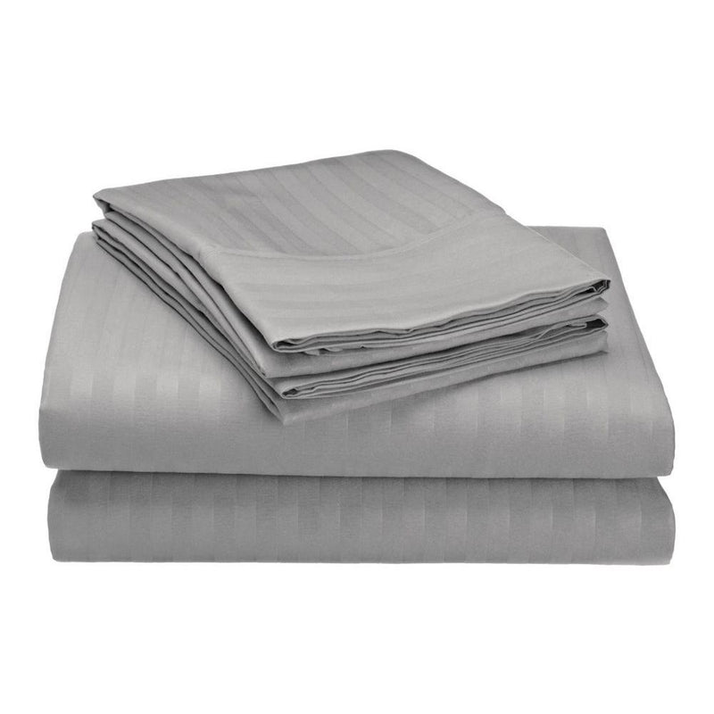 Embossed Microfiber Sheets Bed & Bath Twin Gray - DailySale