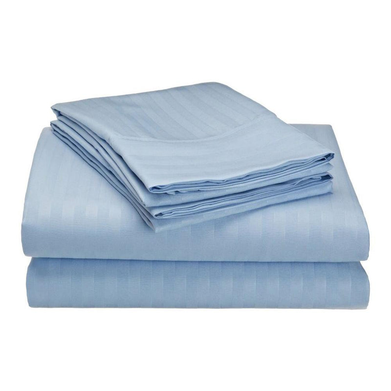 Embossed Microfiber Sheets Bed & Bath Twin Light Blue - DailySale