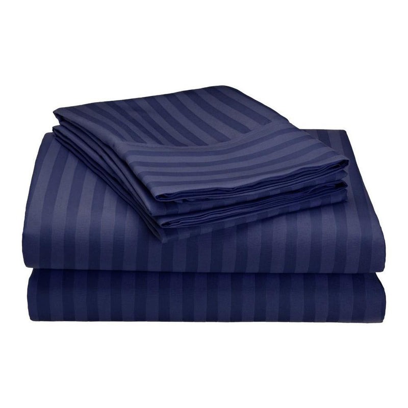 Embossed Microfiber Sheets Bed & Bath Twin Navy - DailySale