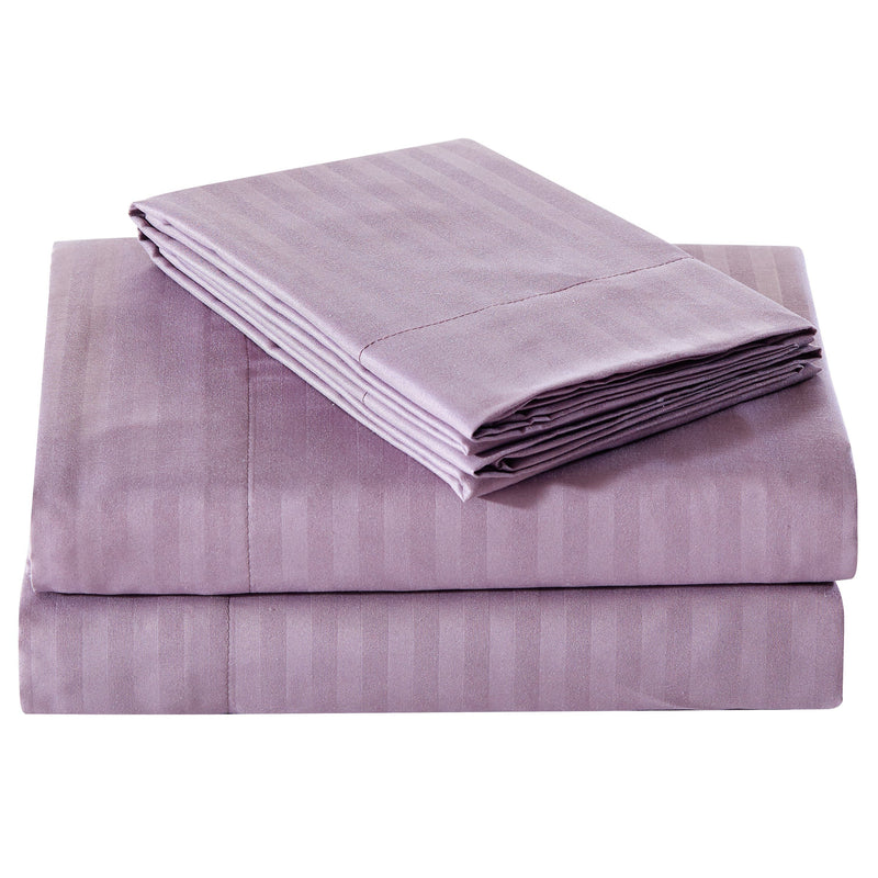 Embossed Microfiber Sheets Bed & Bath Twin Plum - DailySale