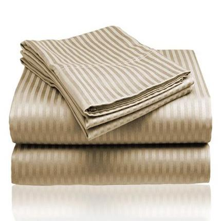 Embossed Microfiber Sheets Bed & Bath Twin Taupe - DailySale