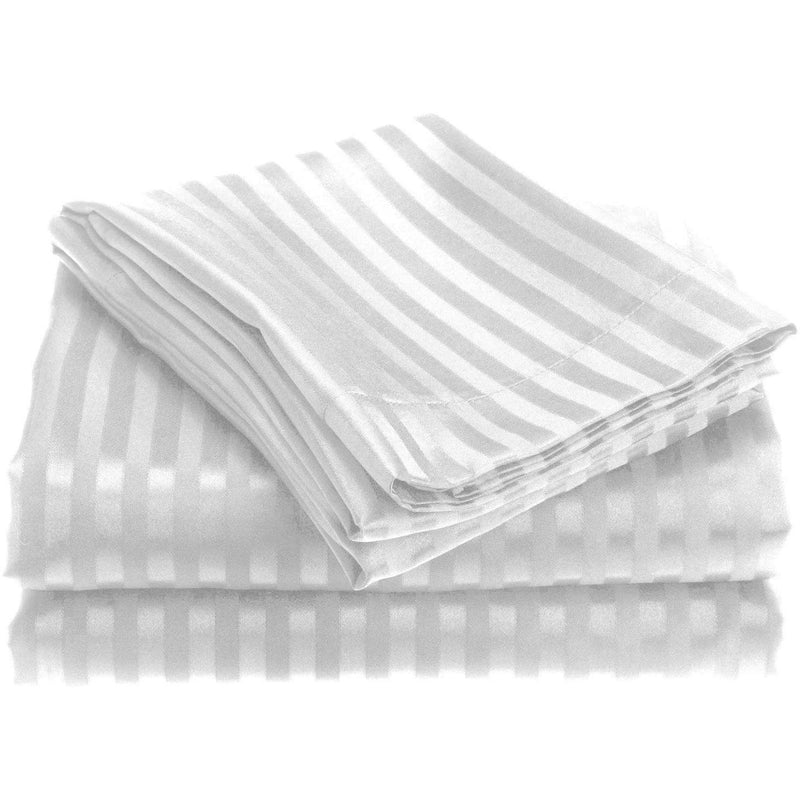 Embossed Microfiber Sheets Bed & Bath Twin White - DailySale