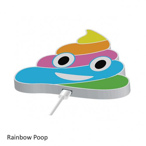 Emoji Themed Wireless Phone Charger Gadgets & Accessories Rainbow Poop - DailySale