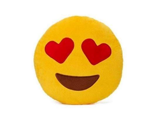 Emoticon Plush Decorative Pillows - Assorted Styles Linen & Bedding Heart Eyes - DailySale
