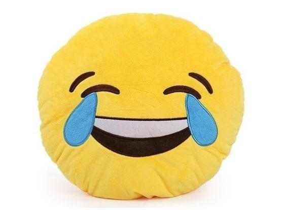 Emoticon Plush Decorative Pillows - Assorted Styles Linen & Bedding Laughing Tears - DailySale