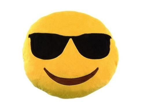 Emoticon Plush Decorative Pillows - Assorted Styles Linen & Bedding Smiling Face with Sunglasses - DailySale