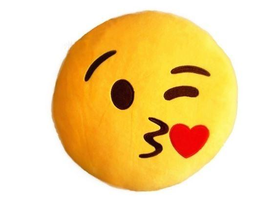 Emoticon Plush Decorative Pillows - Assorted Styles Linen & Bedding Throwing a Kiss - DailySale