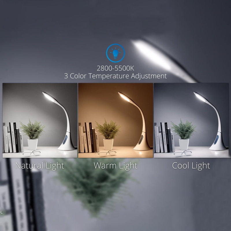 EROS Flexible Gooseneck Dimmable LED Desk Lamp Lighting & Decor - DailySale