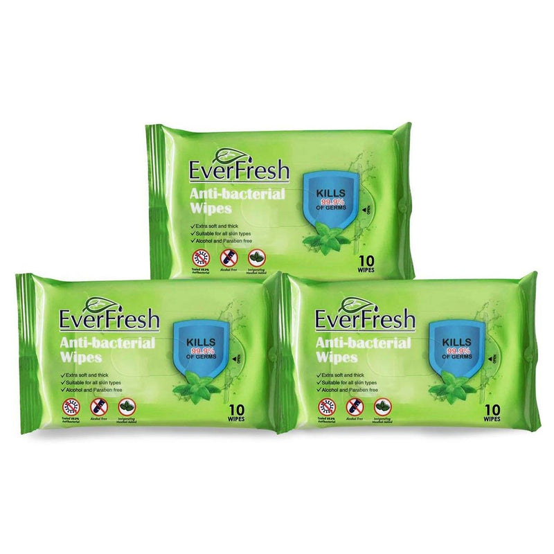 Everfresh Anti-Bacterial Wipes Beauty & Personal Care 30-Pack - DailySale