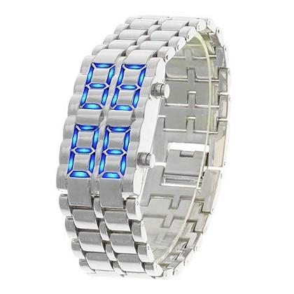 Faceless Unisex Stainless Steel Titanium Waterproof LED Watch Men's Apparel - DailySale