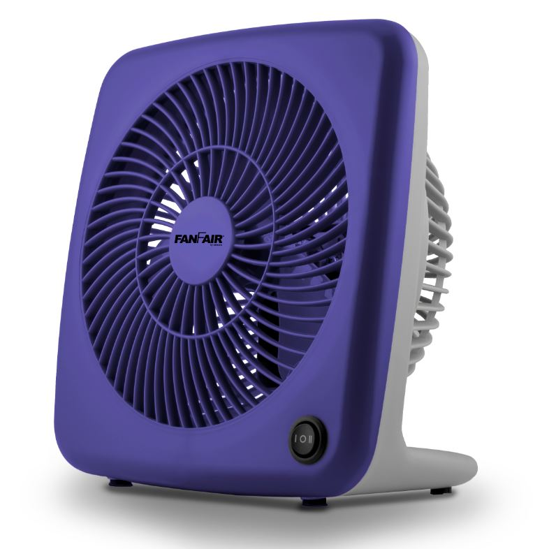 "FanFair 7"" Personal Box Fan Household Appliances Blue - DailySale"