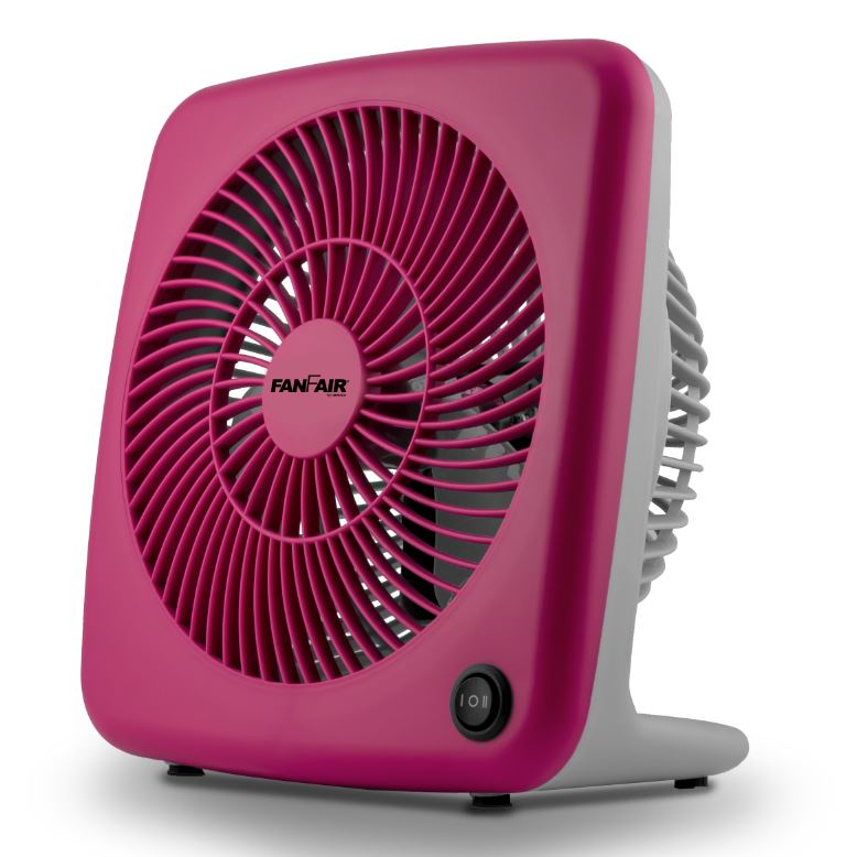 "FanFair 7"" Personal Box Fan Household Appliances Pink - DailySale"