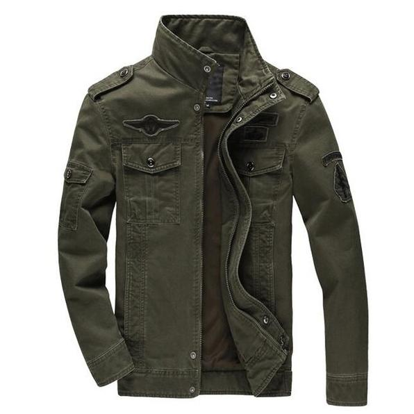 Fashion Mens Jacket Men's Clothing Army Green L - DailySale