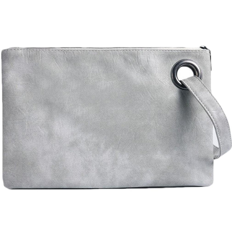 Fashion Solid Women's Envelope Bag Handbags & Wallets Gray - DailySale
