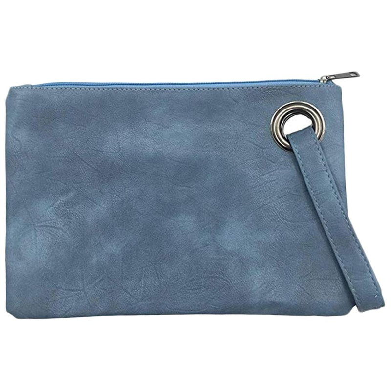 Fashion Solid Women's Envelope Bag Handbags & Wallets Navy - DailySale