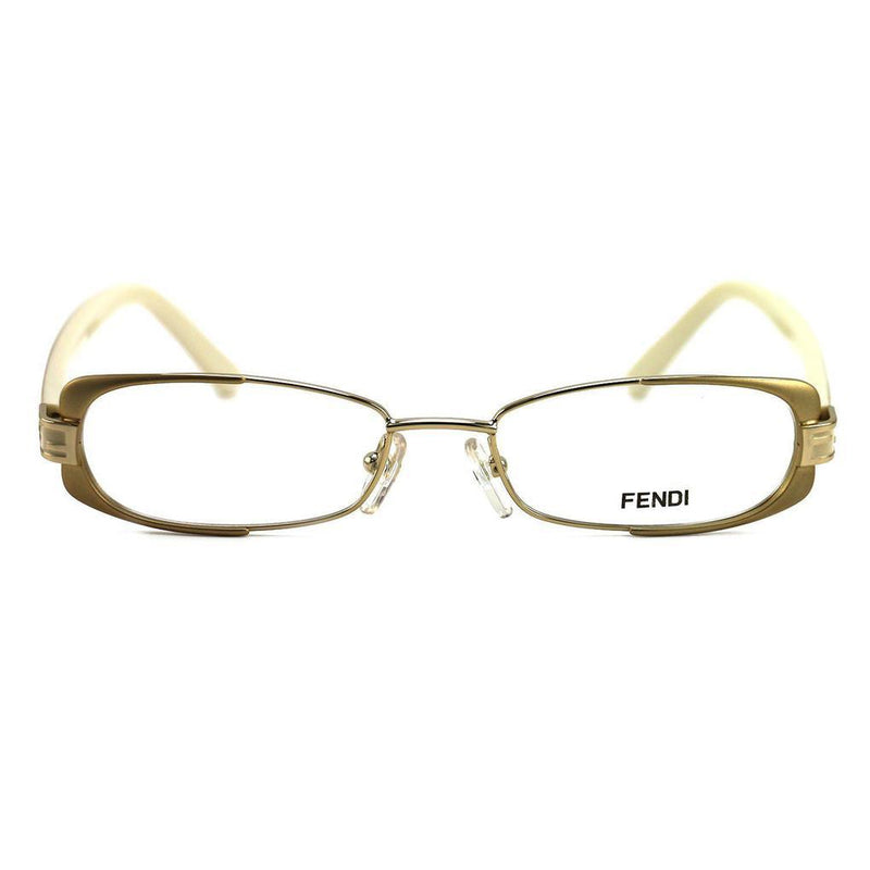 Fendi Women's Eyeglasses F943 714 Gold/Beige 49 16 135 Full Rim Oval Women's Accessories - DailySale